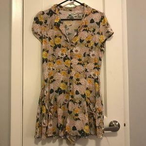 Kimchi Blue Beth Ann Collared Shirt Romper